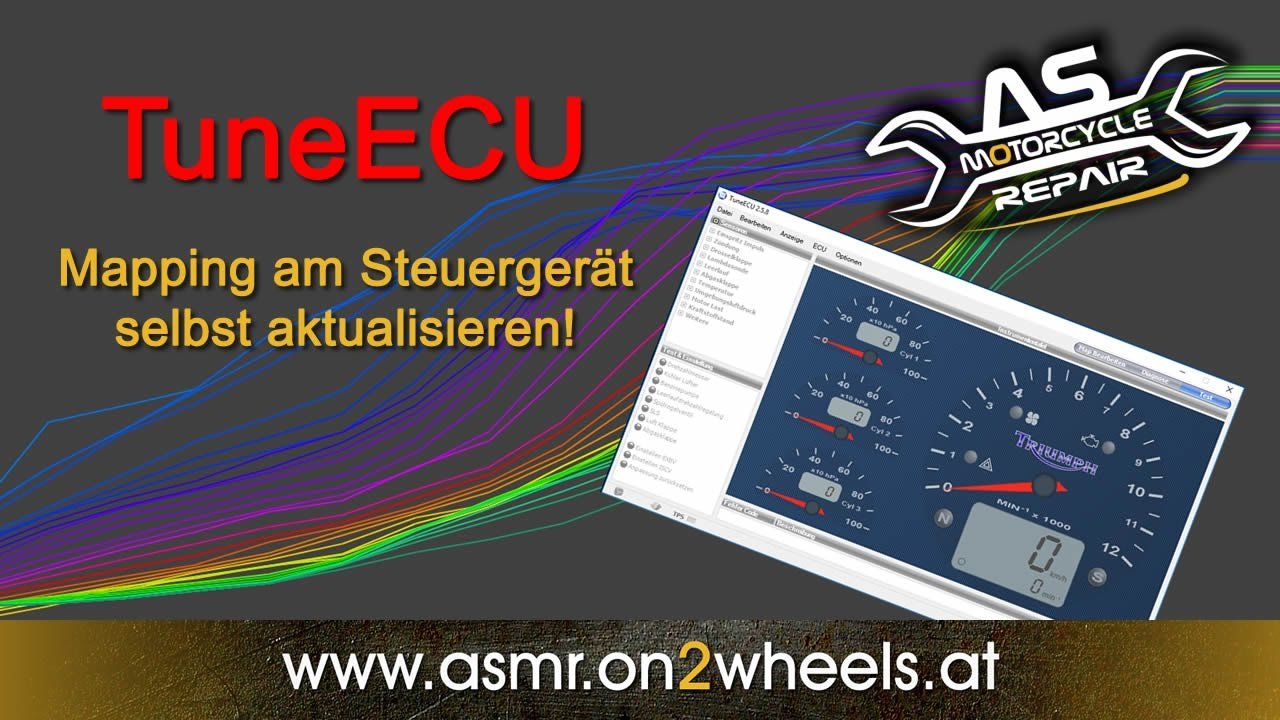 TuneECU mapping update themselves on the motorcycle - Video Tutorial German