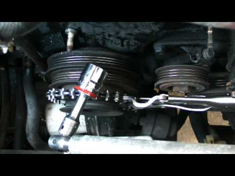 Removing Crankshaft Pulley Bolt Youtube