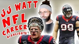 Rugby Player Reacts to J.J WATT NFL Career Highlights!