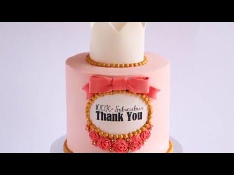 Vintage Style Crown Cake Tutorial- Rosie's Dessert Spot