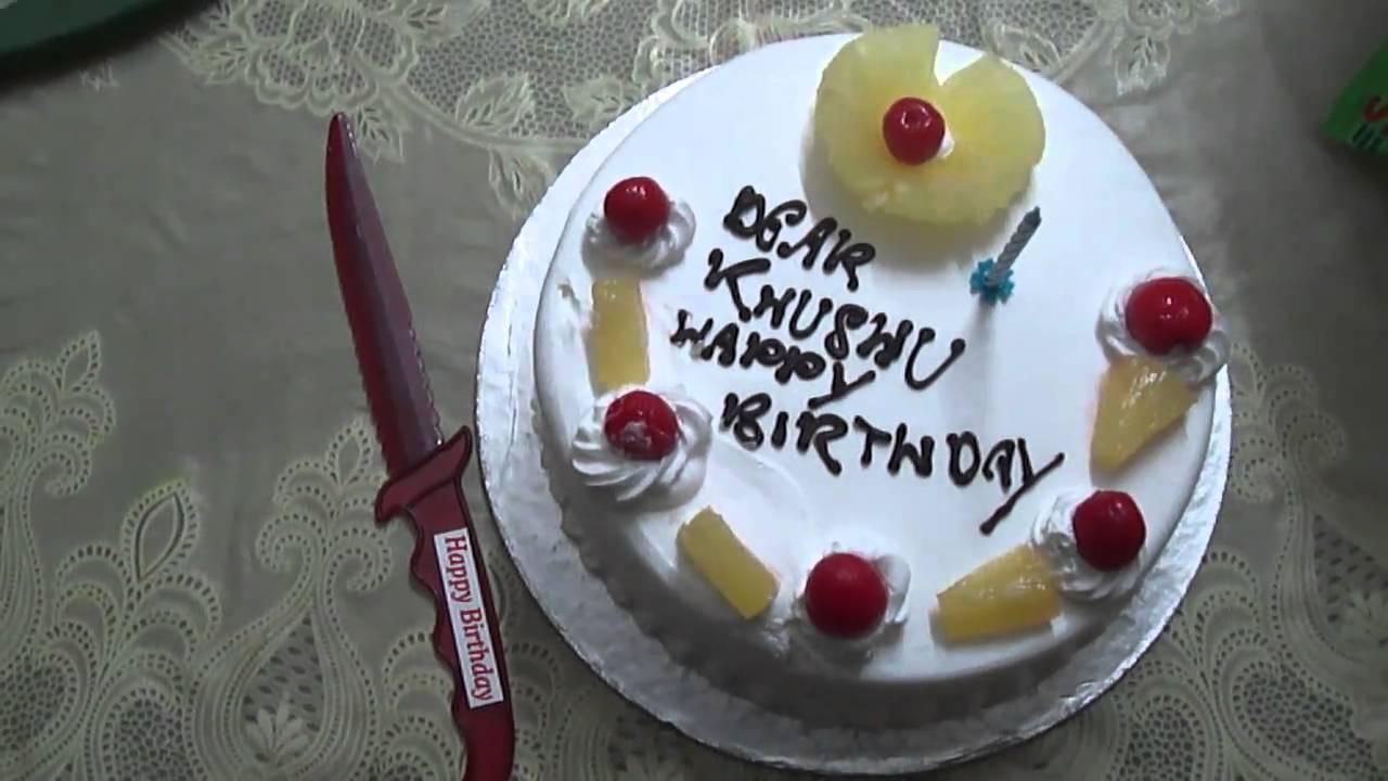 Khushi 1st Bday Cake Youtube