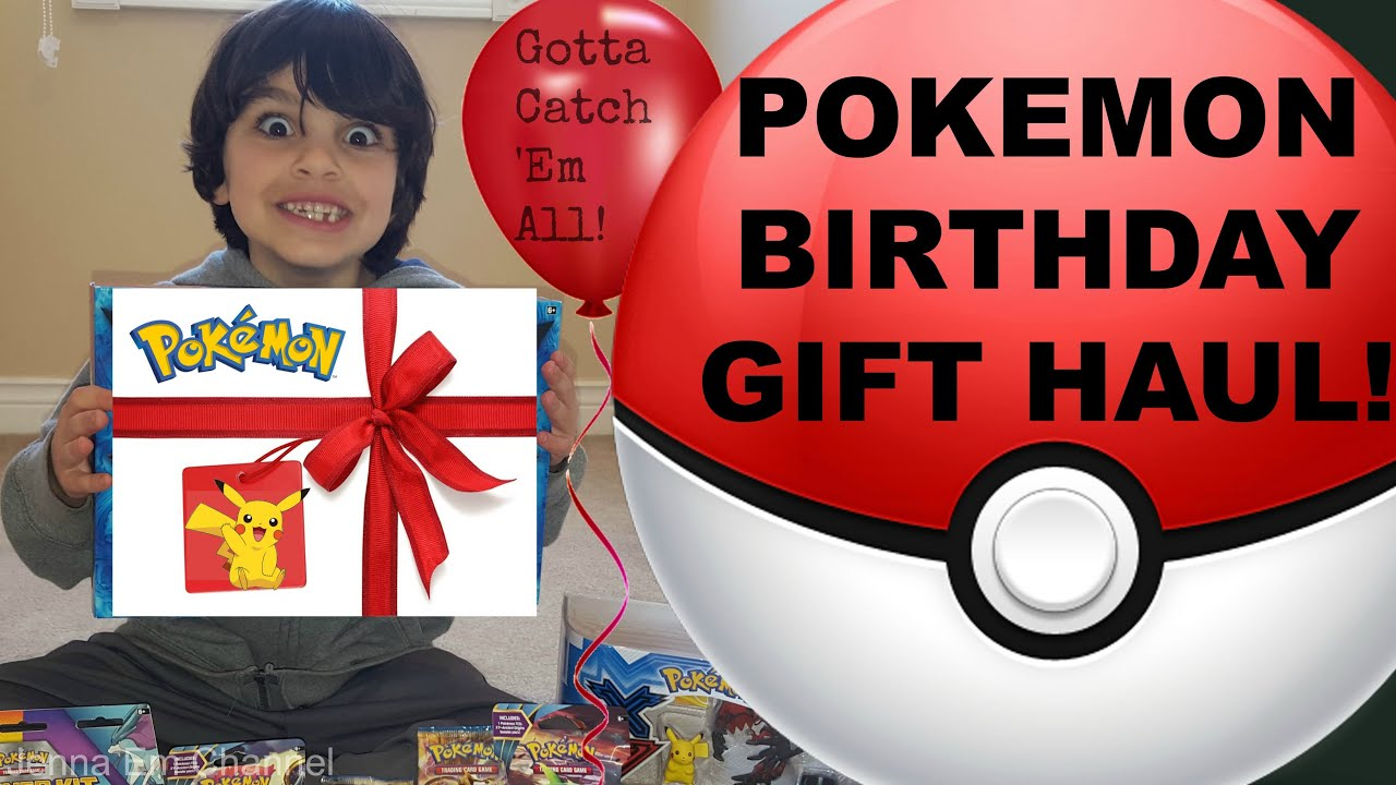 My Little Brothers Pokemon Birthday Gift Haul Jenna Em Channel