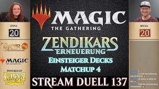 MTG Duell 4 |  Zendikars Erneuerung Einsteiger Decks | Magic the Gathering deutsch | Trader Tutorial