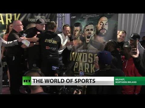 RT America: Drama Breaks Out At Tyson Fury Weigh-In