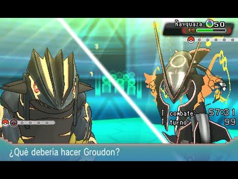 Shiny Mega Rayquaza vs Shiny Primal Groudon and Kyogre