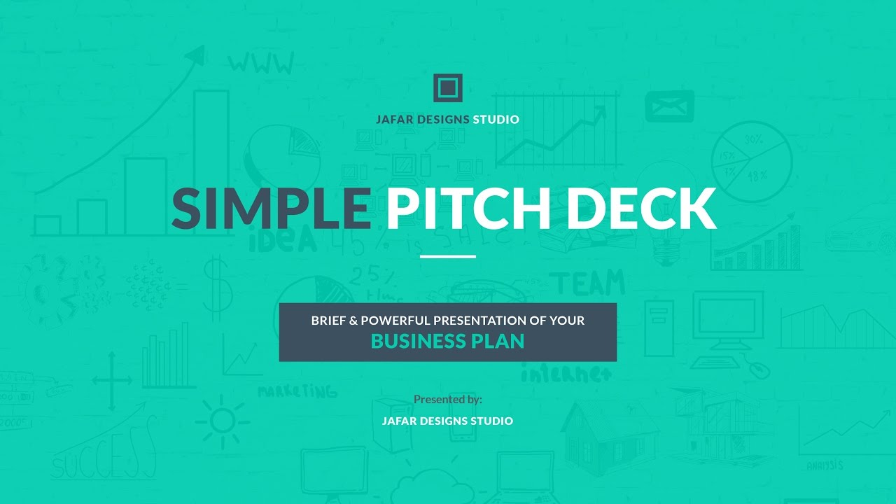 simple pitch deck keynote template youtube
