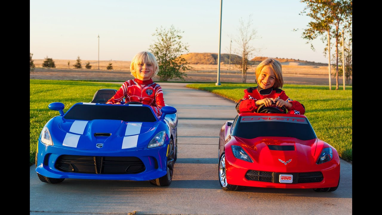 Power Wheels Racing - Corvette Stingray vs SRT Viper - YouTube