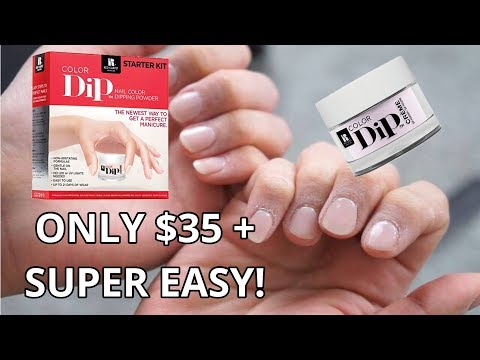DIY DIP POWDER NAIL MANICURE | STEP BY STEP | EASY AT HOME