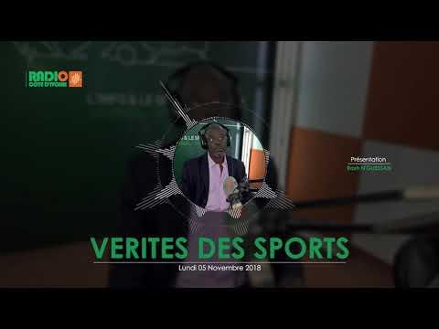 VÉRITÉS DES SPORTS DU 5 NOVEMBRE 2018 - Radio CÔTE D'IVOIRE