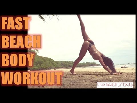 BIKINI BEACH BODY WORKOUT - Body Weight Exercises / Tamarindo, Costa Rica