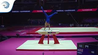 Jamie LEWIS (GBR) - 2018 Artistic Gymnastics Europeans, junior pommel horse silver medallist