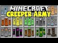Minecraft CREEPER ARMY MOD | SPAWN BRAND NEW MINECRAFT CREEPERS AND TRY TO SURVIVE!!