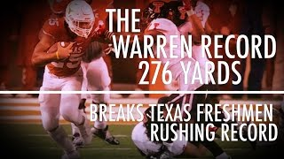 Chris Warren Sets Texas Freshman Single-Game Rushing Record | CampusInsiders