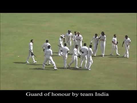 Sachin tendulkar's last match at Wankhede stadium Mumbai