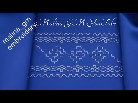 Hand Embroidery: Decorative Stitches* Nakshi Kantha Desing  #malina_gm
