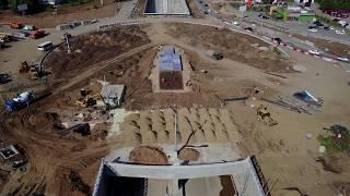 Реконструкция Московского шоссе от Империи до Ташкентской 25.07.2017 (Самара) 4K