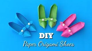 Origami Shoes DIY Tutorial / P…