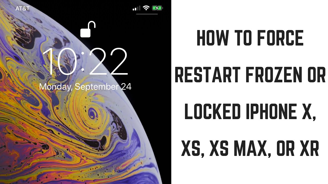How to restart the new iphone xs max when frozen during setup