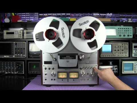 Akai GX630DB reel to reel recorder sound demo