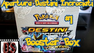 APERTURA Booster Box Pokémon X: DESTINI INCROCIATI (1/4) | Unboxing DS Reviews ITA | HD 720p |
