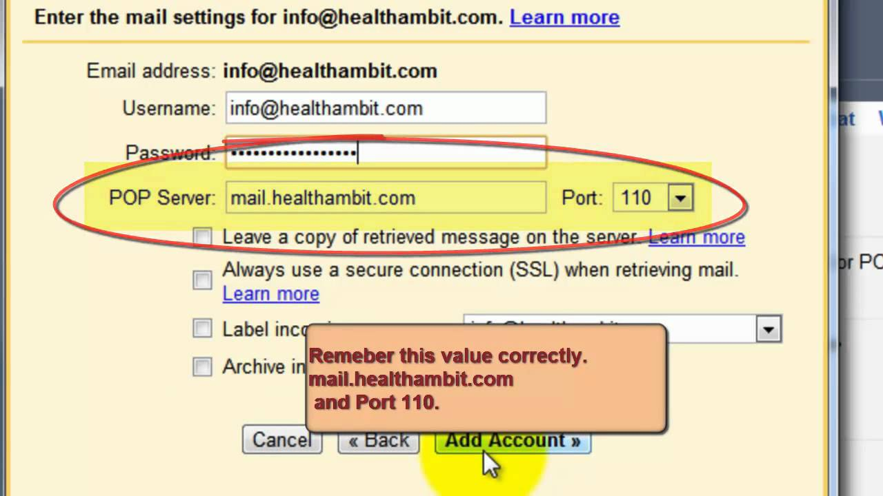 Gmail SMTP - Gmail SMTP server settings