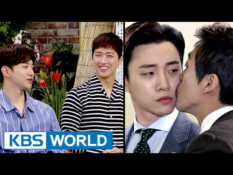 """2PM Junho, """"The kiss with Namkoong Min was very moist haha"""" [Happy Together / 2017.05.18]"""