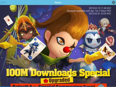 Summonerwar sky arena:100 download event part 2 NEW Mon from event