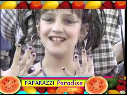 MARA WILSON all made up for Dream Halloween party in 1997