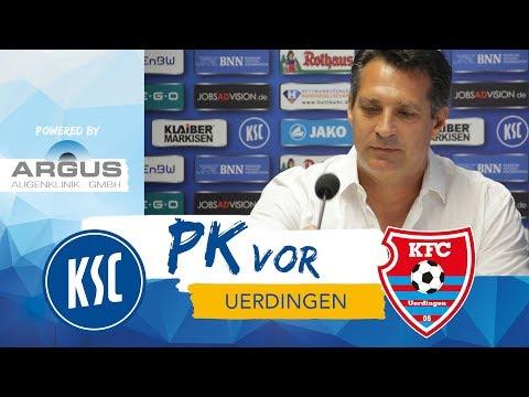 KSC-Pressekonferenz vor Uerdingen