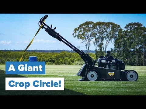 Mowing A Crop Circle With Australian Lawn Fanatics At Lawnfest