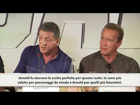 Sylvester Stallone & Arnold Schwarzenegger  The Expendables 3  Sub ITA  I Mercenari 3  Interview