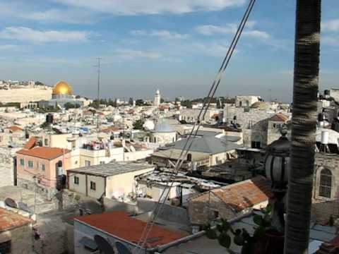 View of Jerusalem Old City from the top of Hashimi Hotel 2