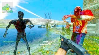 Counter Strike Source - Zombie Horde Mod Online Gameplay on Resistance map