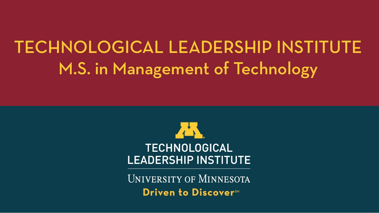 M.S. in Management of Technology