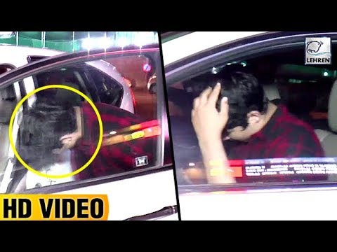 Akshay Kumar's Son Aarav HIDES From The Paparazzi | LehrenTV