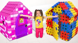 Sasha plays with Colored Toy Blocks and builds Playhouse for Princess thumbnail