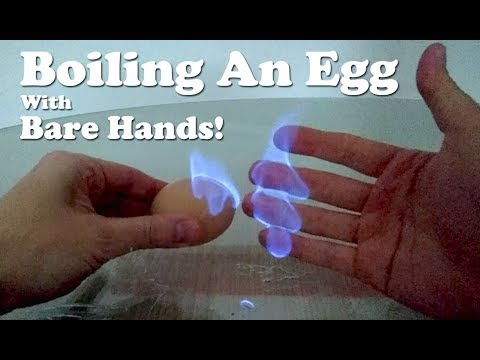 BOILING EGG WITH BARE HANDS!