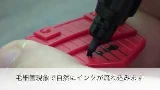 新製品ガンダムマーカー流しこみスミ入れペン使用上の注意&使用方法