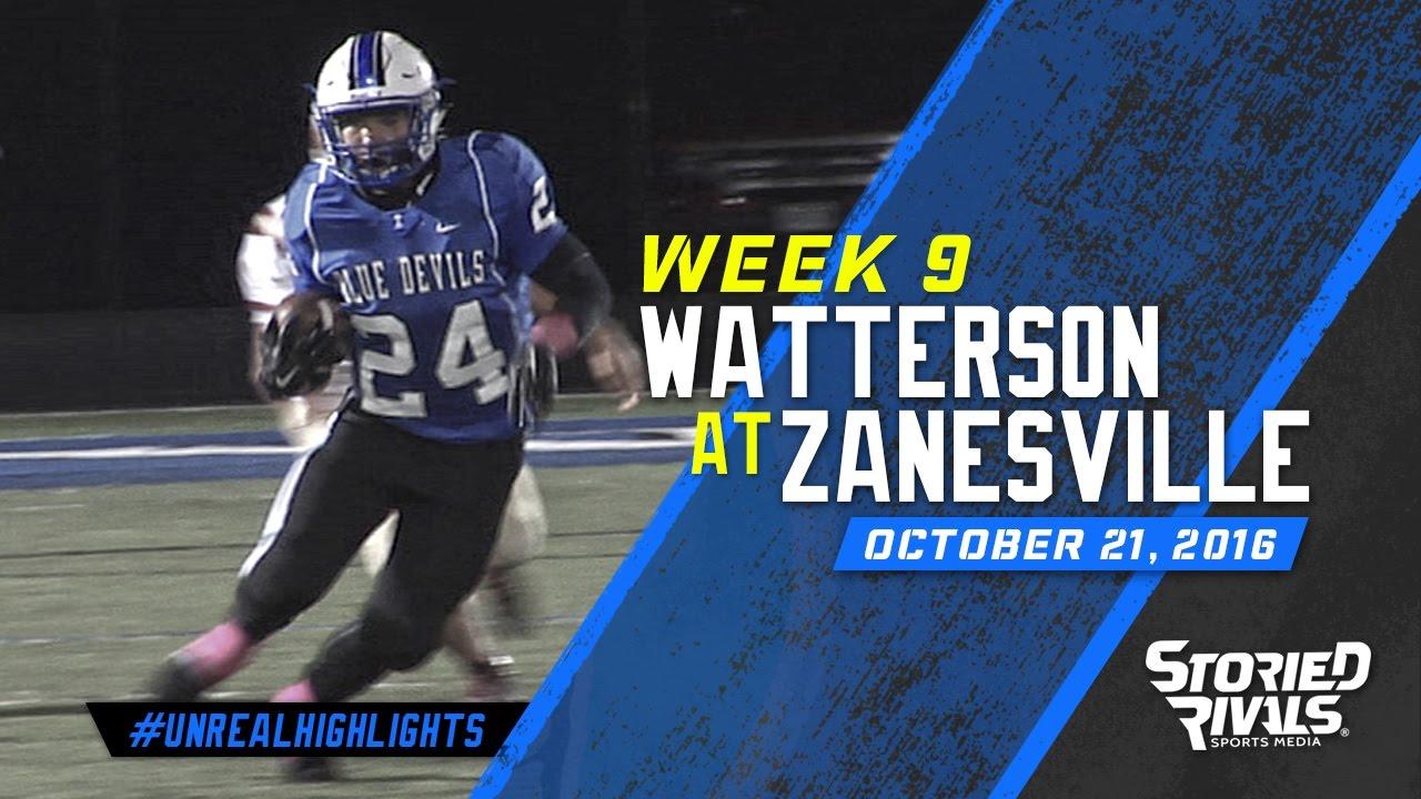 Hs Football Bishop Watterson At Zanesville 10 21 16 Youtube