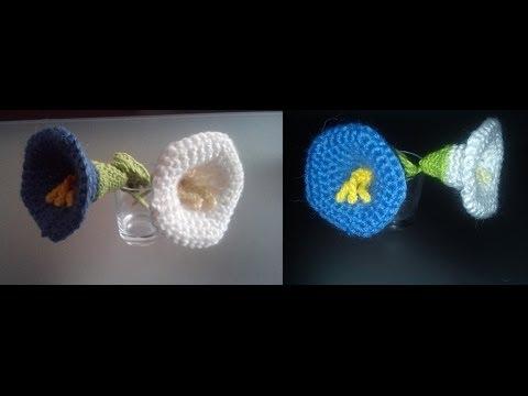 Diy como hacer una flor campanilla a ganchillo youtube - Como hacer flores ...