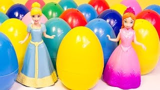 Disney Princess Surprise Eggs Frozen Cinderella The Little Mermaid Play Doh Eggs Barbie Dolls
