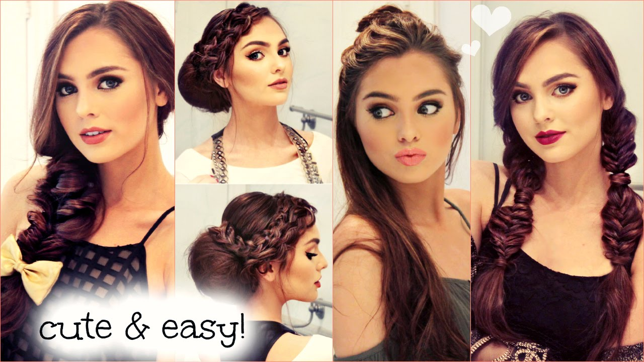 cute & easy no heat hairstyles for fall 2015