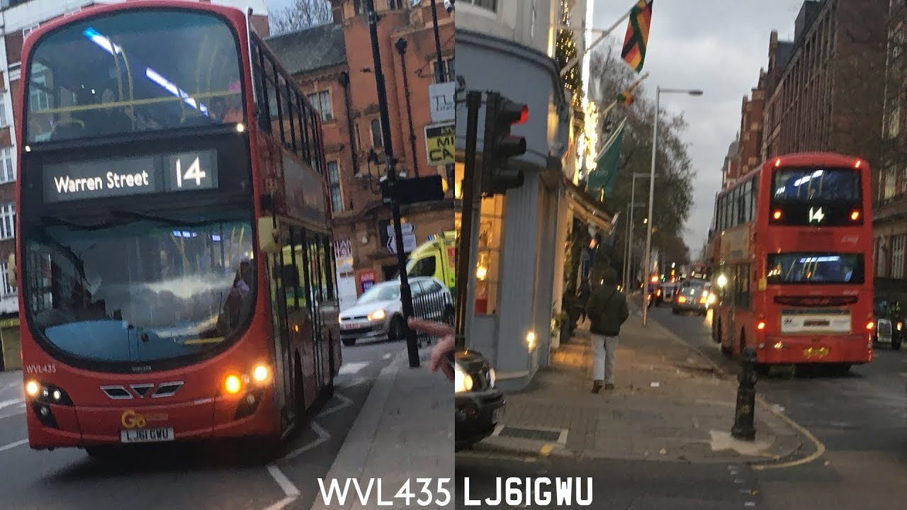 veryrare* 14 bus route (wvl435 lj61gwu) wrighteclipse gemini 2 go