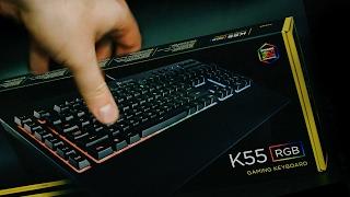 обзор игровой тихой клавы corsair k55 rgb