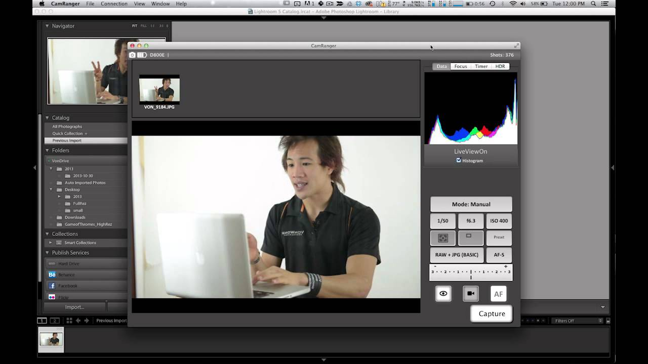 How to wirelessly tether your camera to Lightroom - Von Wong