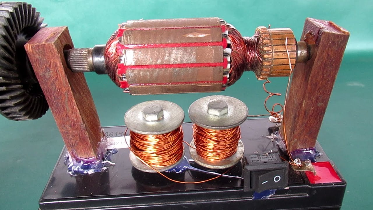 how to build a simple motor science project