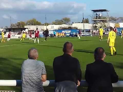 Chelmsford City hitting post against Concord rangers