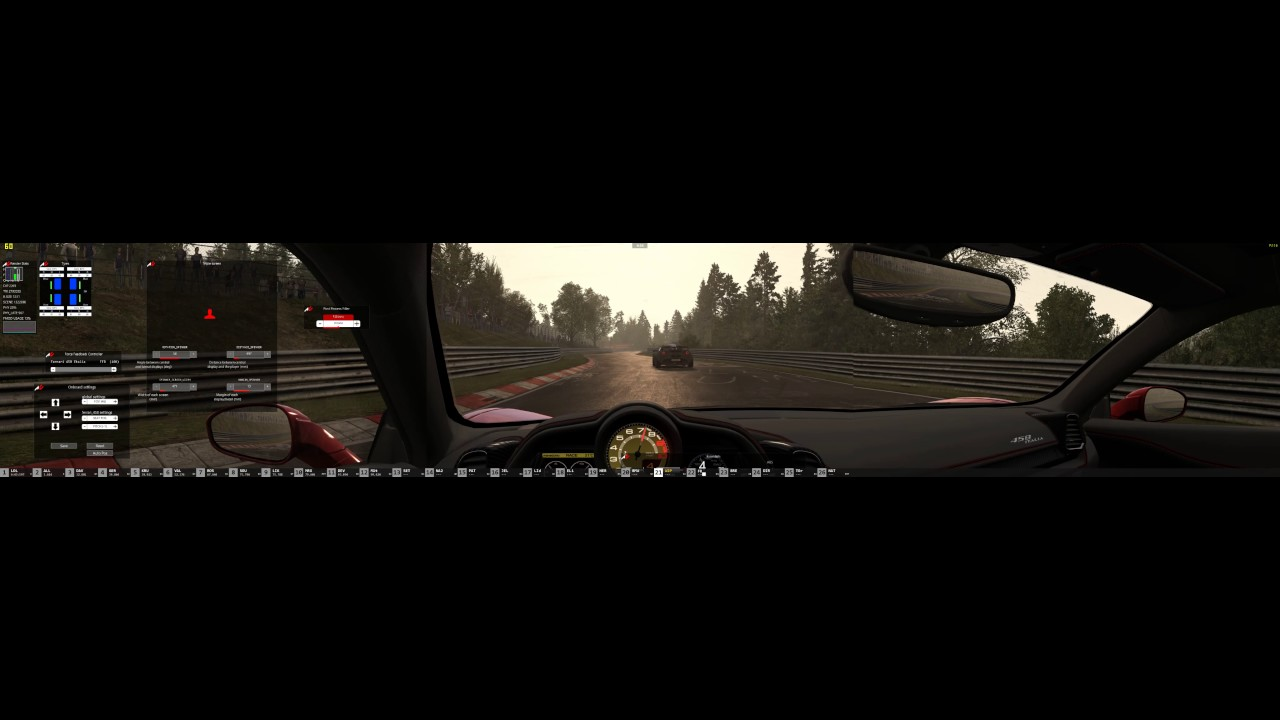 Assetto Corsa 4k Triple Screen Ultra Wide Ferrarii 458