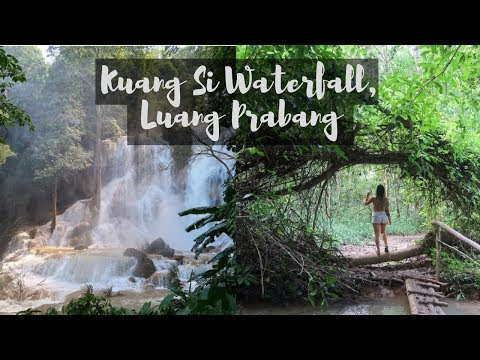 THE MOST MAGICAL WATERFALL // LUANG PRABANG, LAOS