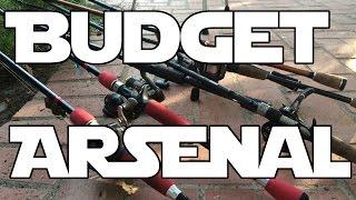 my budget rod and reel arsenal bass fishing